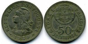 50 Centavo São Tomé and Príncipe (1469 - 1975) Copper/Zinc