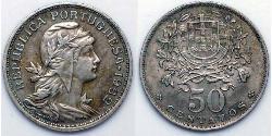 50 Centavo Second Portuguese Republic (1933 - 1974) Copper/Zinc