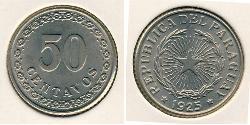 50 Centavo Paraguay (1811 - ) Kupfer/Nickel