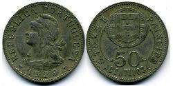 50 Centavo São Tomé and Príncipe (1469 - 1975) Kupfer/Zink