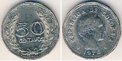 50 Centavo Republic of Colombia (1886 - ) Nickel
