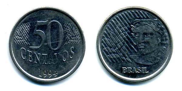 50 Centavo Brésil Acier/Nickel
