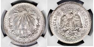50 Centavo México (1867 - ) Plata