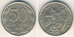 50 Centavo Cile Rame/Nichel