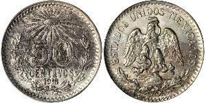 50 Centavo Mexiko (1867 - ) Silber