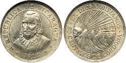 50 Centavo Nicaragua Silber