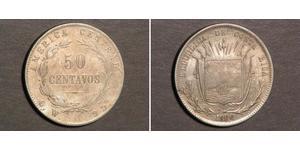 50 Centavo Costa Rica Silver