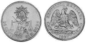 50 Centavo Mexico Silver