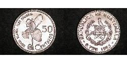 50 Centavo Republic of Guatemala (1838 - ) Silver