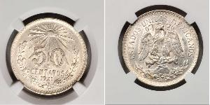 50 Centavo United Mexican States (1867 - ) Silver