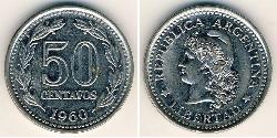 50 Centavo Argentine Republic (1861 - ) Steel/Nickel