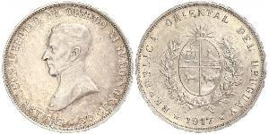 50 Centesimo Uruguay 銀 何塞·赫瓦西奥·阿蒂加斯
