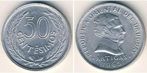 50 Centesimo Uruguay Aluminium
