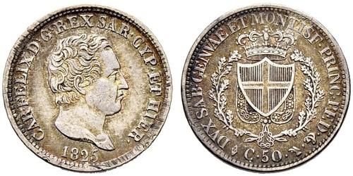 50 Centesimo Italia Argento
