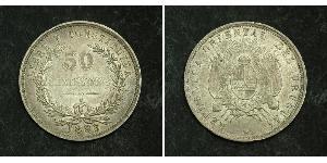 50 Centesimo Uruguay Argento