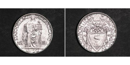 50 Centesimo Vaticano (1926-) Argento
