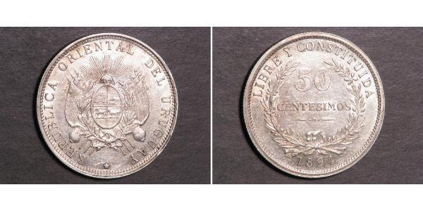 50 Centesimo Uruguay Plata