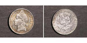 50 Centesimo Dominican Republic Silver