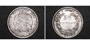 50 Centesimo Uruguay Silver