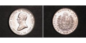 50 Centesimo Uruguay Silver José Gervasio Artigas