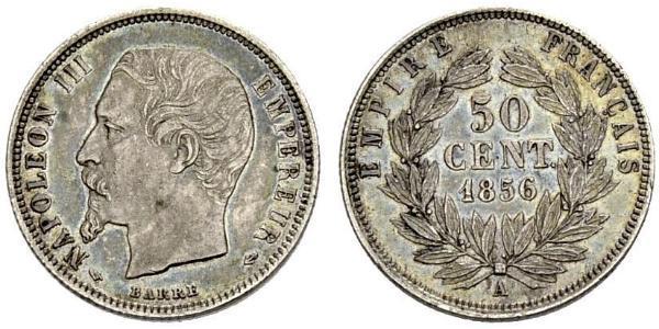 50 Centime 法蘭西第二帝國 (1852 - 1870) 銀 拿破仑三世