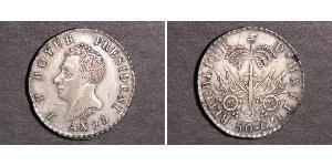 50 Centime Haiti Silber