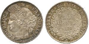 50 Centime French Third Republic (1870-1940)  Silver