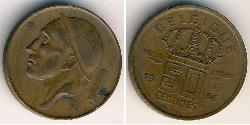 50 Centimo Belgium Bronze