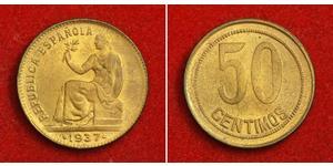 50 Centimo Second Spanish Republic (1931 - 1939) Copper