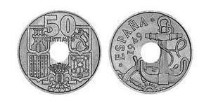 50 Centimo Francoist Spain (1936 - 1975) Copper/Nickel Francisco Franco (1892 – 1975)