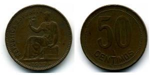 50 Centimo Seconde République Espagnole (1931 - 1939) Cuivre