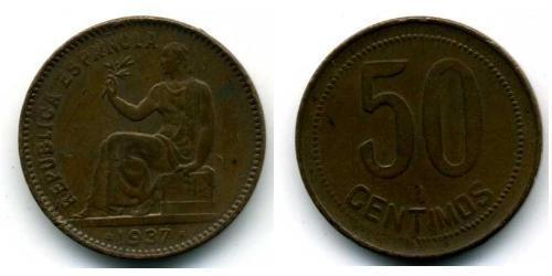 50 Centimo Seconda repubblica spagnola (1931 - 1939) Rame