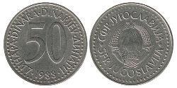 50 Dinar Socialist Federal Republic of Yugoslavia (1943 -1992) Copper/Zinc
