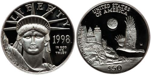 50 Dollar 美利堅合眾國 (1776 - ) Platinum