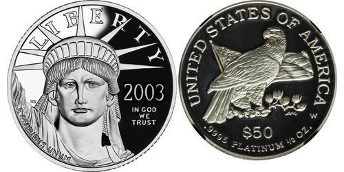 50 Dollar USA (1776 - ) Platinum