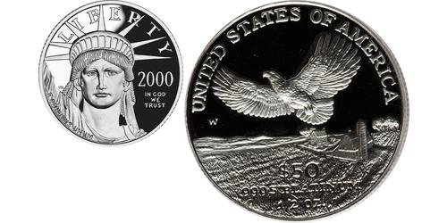50 Dollar USA (1776 - ) Platinum