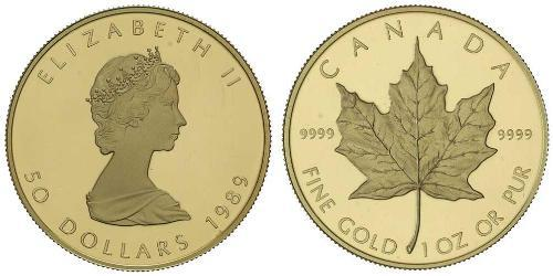 50 Dollaro Canada Oro Elisabetta II (1926-)