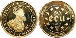 50 Ecu 比利时 金