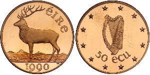 50 Ecu 爱尔兰共和国 金