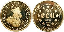 50 Ecu Belgien Gold