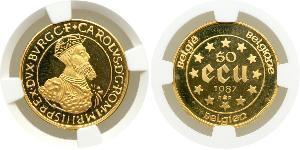 50 Ecu Belgium Gold Charles V, Holy Roman Emperor (1500-1558)