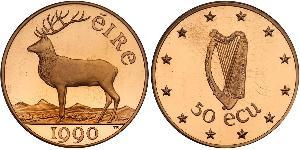 50 Ecu Ireland (1922 - ) Gold