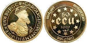 50 Ecu Belgique Or