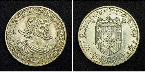 50 Escudo Estado Novo (Portogallo) (1933 - 1974) Argento