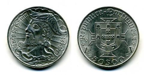 50 Escudo Estado Novo (Portogallo) (1933 - 1974) Argento Vasco da Gama (1460 -1524)