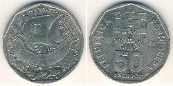 50 Escudo Portuguese Republic (1975 - ) Copper/Nickel