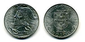 50 Escudo Second Portuguese Republic (1933 - 1974) Silver Vasco da Gama (1460 -1524)