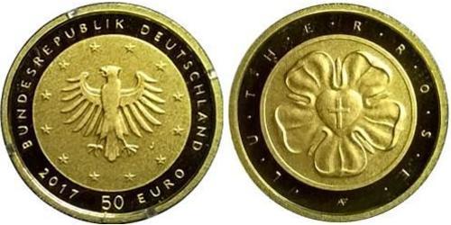 50 Euro Repubblica Federale di Germania (1990 - ) Oro