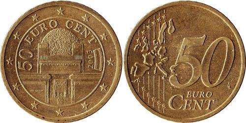 50 Eurocent Republic of Austria (1955 - ) Cobre