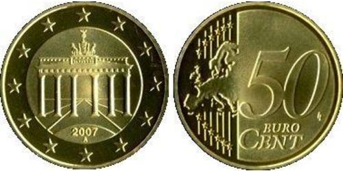 50 Eurocent Federal Republic of Germany (1990 - ) Tin/Aluminium/Copper/Zinc